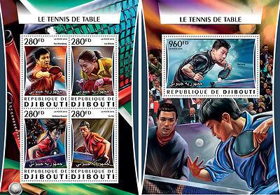 Dschibuti Tischtennis Sport China Mnh Stempelset Ausgereifte Technologien