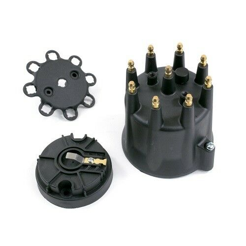 Small Cap HEI Distributor Cap Rotor Kit BLACK PRO SERIES HEI MALE TERMINALS