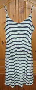 LC-Lauren-Conrad-Women-039-s-Dress-Spaghetti-Strap-Mini-Green-Blue-Stripe-Size-6
