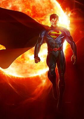 Inteligente Sticker Autocollant Poster A4 Comics Dc Superman. Clark Kent Kal-el Krypton N°2.
