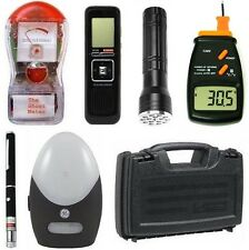 Deluxe Ghost Hunting Kit + Thermometer + Laser Grid Pen + Equipment Case + More