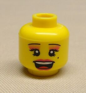 Angry Pattern x1 NEW Lego Minifig Head Girl Female Dual Sided  w// Determined