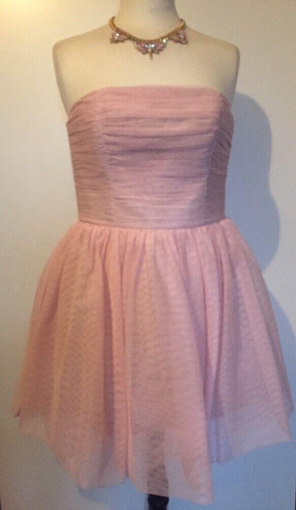 BNWT Jack Wills Rosa  Wibdon Mega  Strapless Tutu Dress Größe 12
