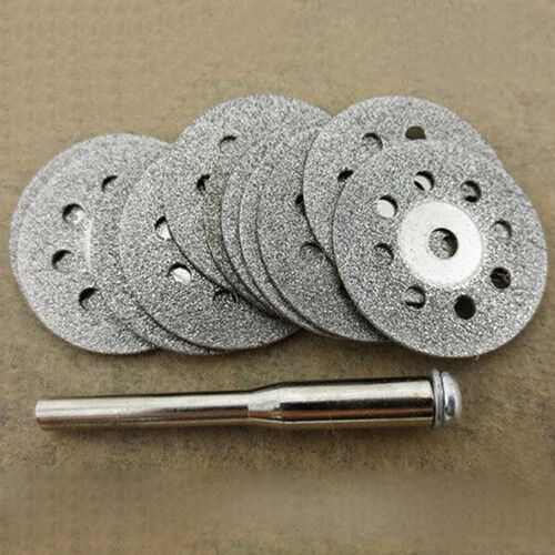 HK- 12 Pcs Rotary Tool Circular Saw Blades Cutting Wheel Discs Mandrel Dremel Ho Home & Garden