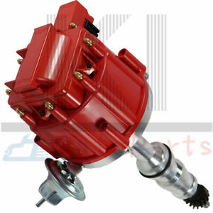 FORD FE 352-360-390-427-428 RED Small Cap HEI Distributor /& RED Spark Plug Wires