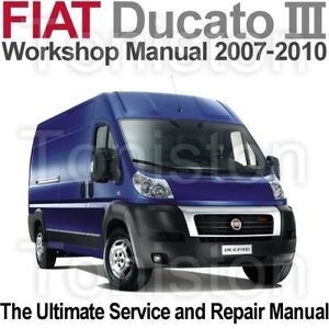 fiat ducato 2007 to 2010 type 250 workshop service and repair rh ebay com Fiat Strada Fiat Strada