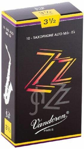 Vandoren ZZ Jazz Alto Saxophone Reeds 10 Pack Strength 3.5