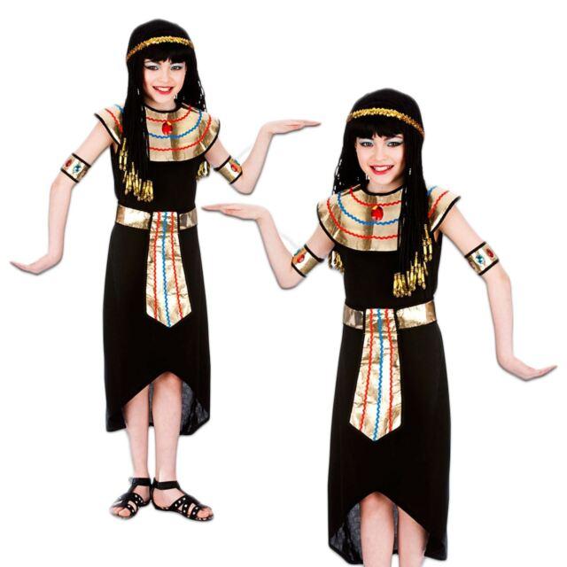 girls egyptian queen outfit book week cleopatra princess fancy dress costume