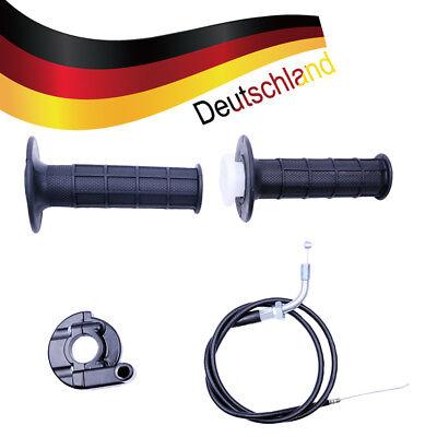 Dreh Gas Griff Set rot HMParts Dirt Bike ATV Pocket Bike Monkey etc schwarz
