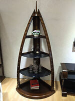 Dubai Towers Solid Wooden Veneer Wall Unit Tv Stand Side 1 X Side Only