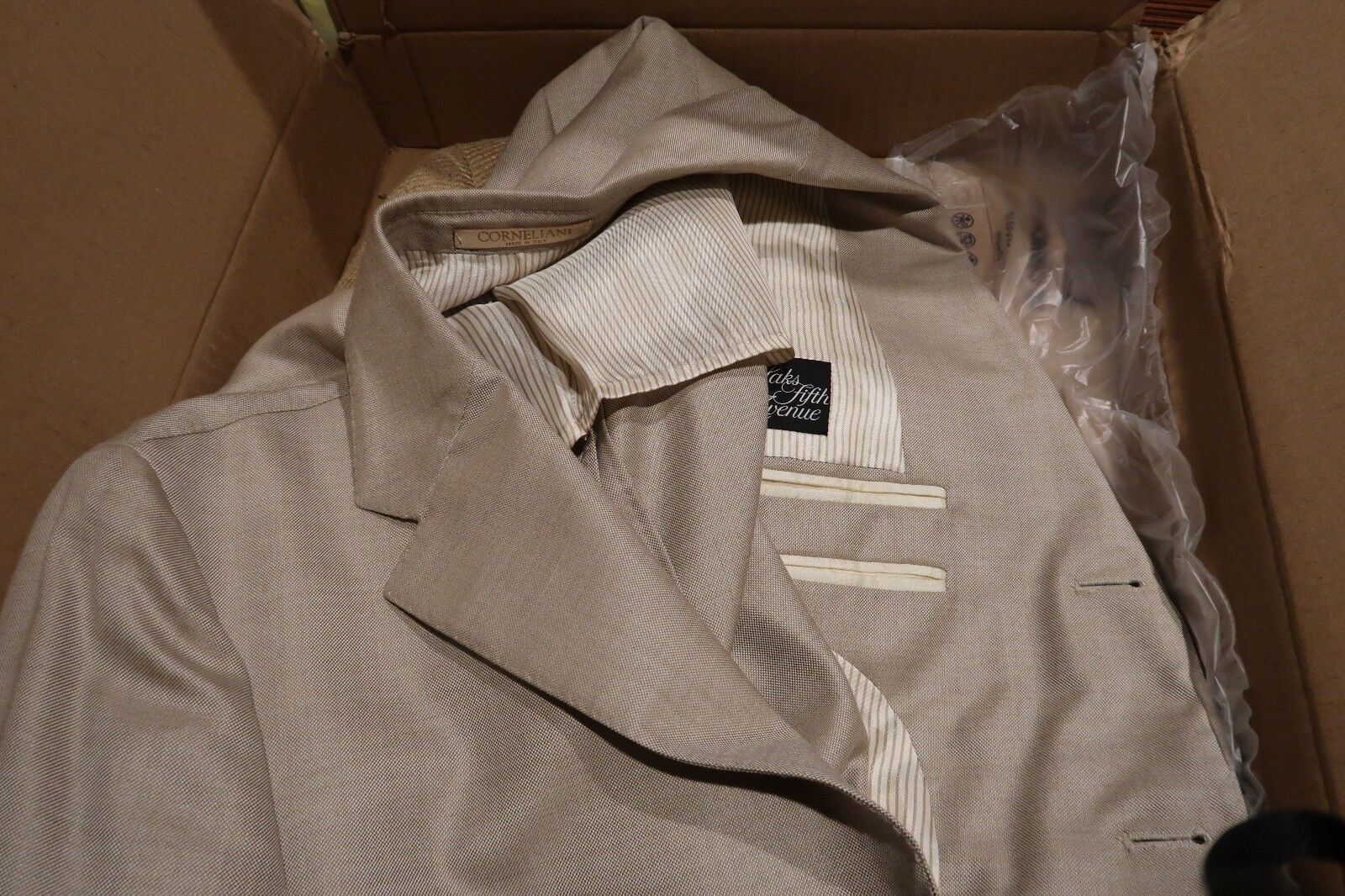 Corneliani 3 Button wolle& Silk Sport Coat - Saks Fifth Avenue 52R rotUCED  50