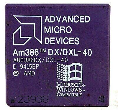 Vintage AMD Am386DX//DXL-40 CPGA Processor AMD 386 DX 40MHz CPU Working QTY=1