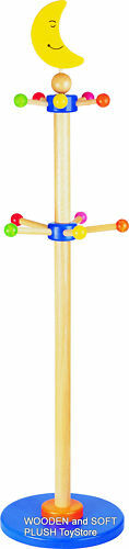 VOILA childs wooden HAT CLOTHES STAND HANGER RACK *NEW
