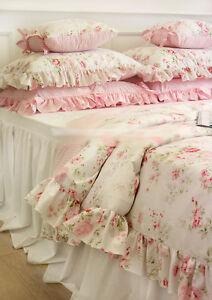Shabby Chic Cottage Floral Quilt Duvet Cover Pillow Case