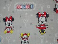 Disney Baby Minnie Mouse On Grey Quilting Fabric Camelot 100% Cotton Fq Bty