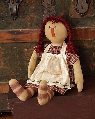 "New Primitive Country Folk Art BLACK SHEEP JACKIE Raggedy Ann Doll 16/"""