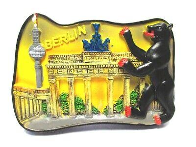 Berlin Magnet Poly Souvenir Germany Brandenburger Tor Bär Funkturm Fest In Der Struktur
