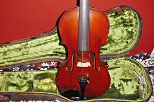 Orchestral Bright Antique 1800s Head Fiddle Gaspard Duiffoprugcar Carving Rare Violin Carved Back Vintage Musical Instruments
