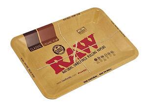 "7"" x 5"" Raw® Aluminum High Sided Rolling Tray - Mini"