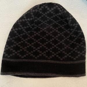 Authentic Gucci Knit Hat Beanie Cap Web Pattern 100% Wool