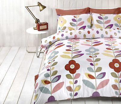 Hell Blumenmuster Oval Gepunktet Rot Baumwollgemisch Kingsize-bettbezug Bettwäschegarnituren Bettwaren, -wäsche & Matratzen