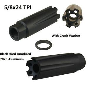 Compact Low Concussion Muzzle Brake Compensator 5//8x24 TPI 308 Washer