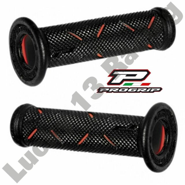 "Progrip Gel Touch Dual Compound Grips RED pair to fit 22mm 7/8"" handle bars"