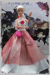 Robe-de-Bal-Paire-De-Chaussure-En-Cadeau-pour-Princesse-Poupee-Mannequin-Barbie