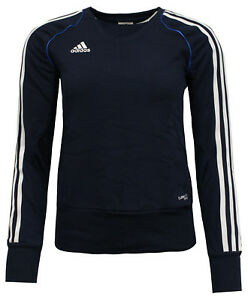 Details about Adidas T12 Climacool Womens Pullover Sweatshirt Jumper Navy X13718 A41BC