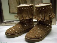 Jimmy Choo / UGG Australia Chestnut Fringe Starlit Boots Size 10 $800
