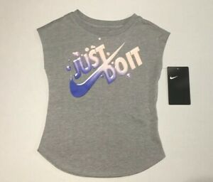 2986bd311 New Nike Active T-Shirt Toddler Baby Girl's Just Do It Size 2T 1-2 ...