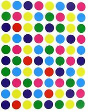 1/2 Inch Color Coding Labels Dot Stickers Assorted 7 Colors 400 Pack - 0.5""