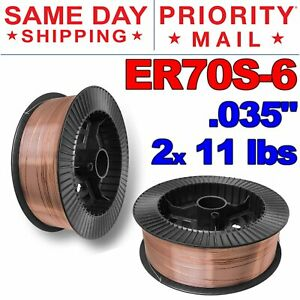 "Diam 33 lb Roll ER70S-6 .035/"" Mild Steel Mig Welding Wire 2/"" Center Hole Hub"