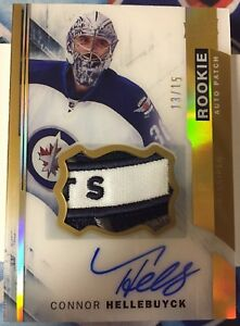 2015-16-UD-Premier-Connor-Hellebuyck-Rookie-Patch-Auto-Gold-spectrum-15-RC-106