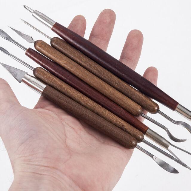 10x Wooden Pottery Clay Sculpting Modeling Shaper Sculpting Tools Nail Tools