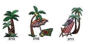 Coconut-Tree-Beach-Chair-Sunhat-Sun-Umbrella-Embroidery-Iron-On-Applique-Patch