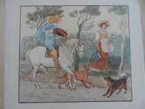 Old-antique-colour-print-Randolph-Caldecott-Original-antique-print-19thc