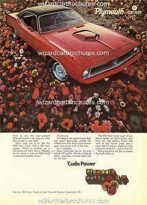 1970 PLYMOUTH BARRACUDA MOPAR HEMI A3 POSTER AD ADVERT ADVERTISEMENT BROCHURE