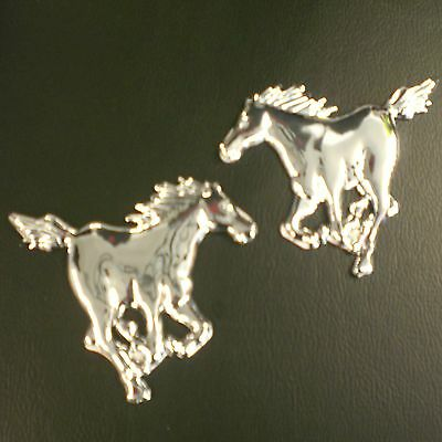 HORSES BADGES X2 SELF ADHESIVE FOR HORSE BOX TRAILER CAR EQUESTRIAN SIGN STICKER