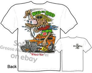 Rat-Fink-T-Shirt-Need-For-Speed-1932-Hot-Rod-32-Ford-Tee-Race-Sz-M-L-XL-2XL-3XL