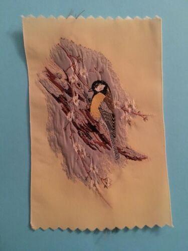 Great Tit Garden Bird Woven Silk Patch