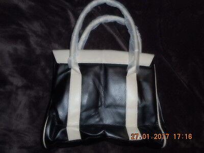 Damen Tasche Neu schwarz beige Damentasche Bügeltasche
