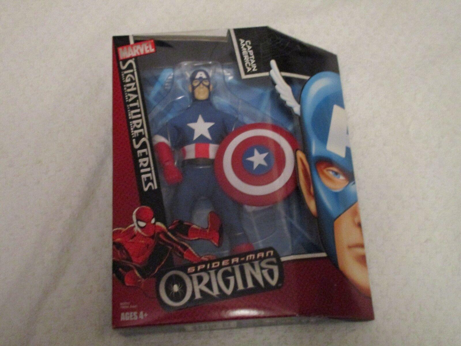 Marvel Signature Series Spider-Man Origins Captain America Action Figure