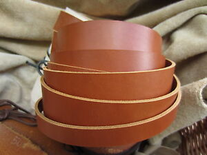 127cm-LONG-2-to-2-4mm-THICK-SADDLE-TAN-LEATHER-STRAP-COWHIDE-VARIOUS-WIDTHS