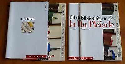 COLLECTION LA PLEIADE :  4  CATALOGUES  entre avril 95 - oct 97  -  parfait état