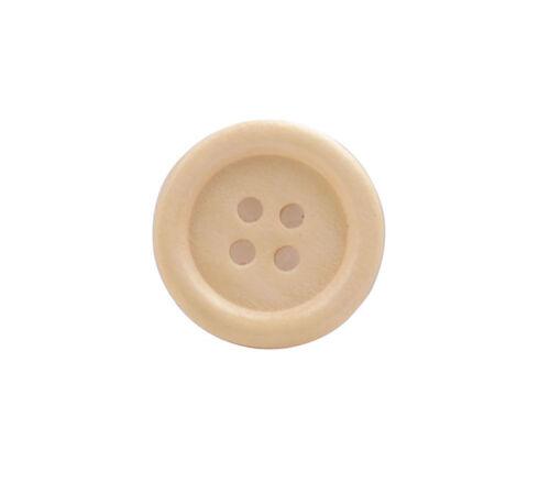 150PCS Yellow Wooden Button Beads 18mm Sewing DIY #92361