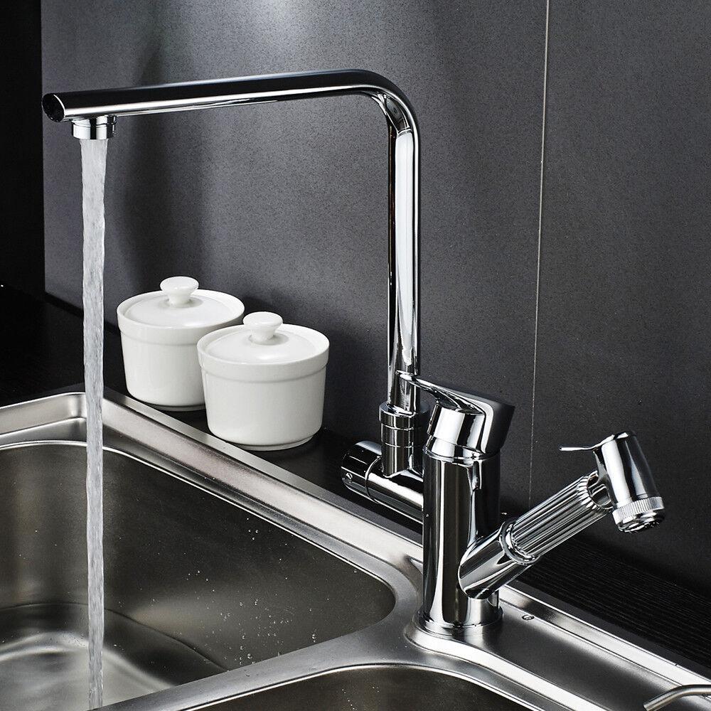 Ausziehbar Brause Küchenarmatur Spültischaramtur Wasserhahn Mischbatterie küche