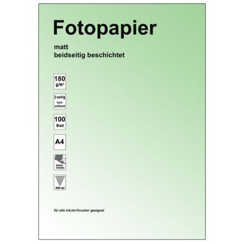 2-seitig beschichtet Inkjet Papier A4 photo-matt,180g 100 Blatt