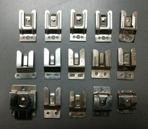 Lot of 24 Assorted Motorola Kenwood CB Radio Microphone Hang-up Clip Brackets
