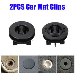 Image is loading 2pcs-Fixing-Grips-Clamps-Floor-Holders-Car-Mat-